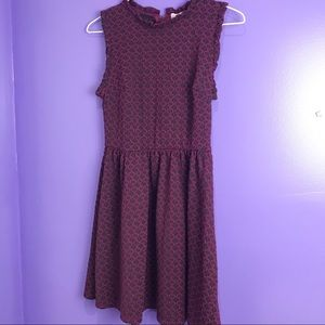 Xhilaration purple Collared dress XS
